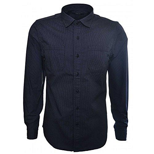 Replay -  Camicia Casual  - Classico  - Maniche lunghe  - Uomo blu X-Large