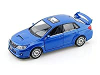 Subaru WRX STI 1/36 Scale BLUE Diecast CAR model Pull back action