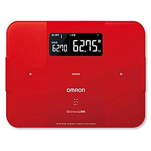 オムロン 体重体組成計(レッド)OMRON カラダスキャン HBF-254C-R