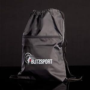 Blitz Draw String with Zip Pocket Bag - Black