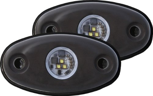 Rigid Industries 48228 A-Series Red Tri-Plex High Strength LED Light, (Set of 2)