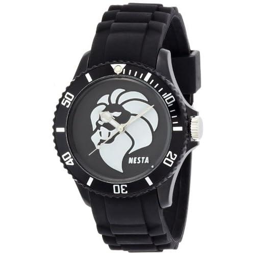 [ネスタブランド]NESTA BRAND 腕時計 レゲエマスター ブラック文字盤 ポリカーボネイトケース ポリカーボネイトベルト RP40BB メンズ