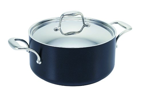 GreenPan, Vienna Black Aluminium, 24 cm, Covered Casserole, Ceramic Non-Stick Coating