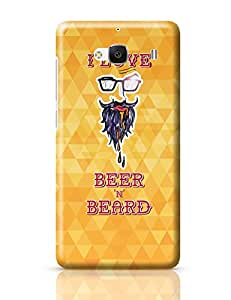 PosterGuy I Love Beer and Beard Quirky Redmi 2 / Redmi 2 Prime Cover