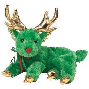 Ty Beanie Babies Sleighbelle - Reindeer Green