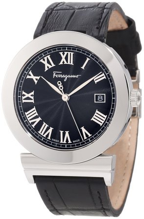 サルヴァトーレ フェラガモ Salvatore Ferragamo Men's F71LBQ9909 S009 Grande Maison Stainless Steel Black Dial Leather Watch 男性 メンズ 腕時計 【並行輸入品】