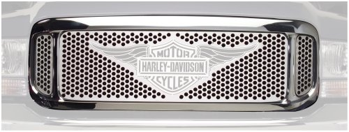 Putco 56105 Harley-Davidson  Mirror Stainless Steel Grille with Wings Logo