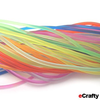 "100 Pack Rainbow Rubber Necklace Cords W/Lobster Clasp 18"" Adjustable Chains"