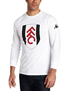 Kappa Men's Fulham Logo Long Sleeve Cotton T-Shirt, White, XXX-Large