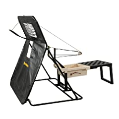 Sling Pitcher Pitching Machine and Sling Guard Protective Screen Combo by Sling Pitcher