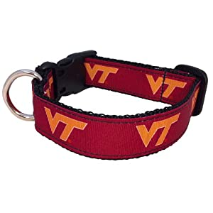 NCAA Virginia Tech Hokies Dog Collar (Team Color, Small)