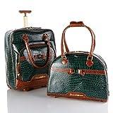 Samantha Brown 2-piece Cabin Bag and Tote Set - GREEN