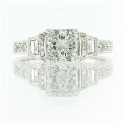 2.03ct Radiant Cut Diamond Engagement Anniversary