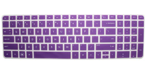 Hp Pavilion New Dv6 (With Number Key) Translucent Keyboard Protector Skin Cover Us Layout Purple