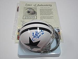 Troy Aikman Dallas Cowboys Mini Helmet Authentic Certified Coa