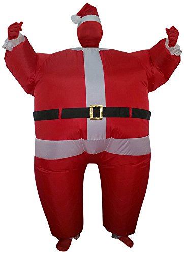Green Man Factory Adult Inflatable Santa Body Suit