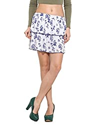 Albely Women Cotton Printed Layered Shorts