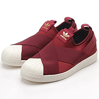 adidas superstar slip on red