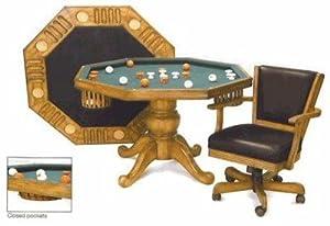 3 In 1 Game Table Octagon 48 Bumper Pool Poker Di