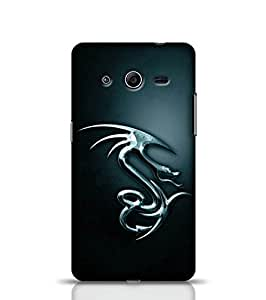 Stylebaby Phone Case Dragon Back Cover for Samsung Galaxy Core 2 Multicolor