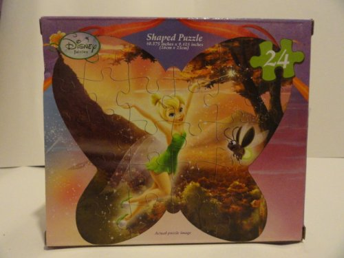 Disney Fairies~ TinkerBell and the Lost Treasure~ 24 Piece Butterfly Shaped Puzzle - 1