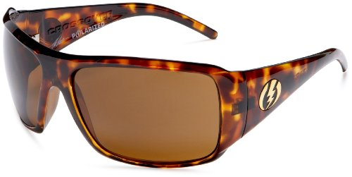 Electric Crossover Polarized Sunglasses,Tortoise Shell Frame/Bronze Polarized Lens,one size