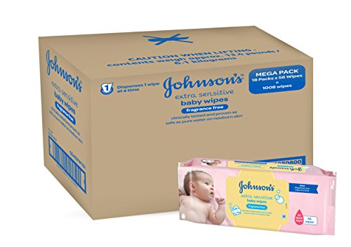 Johnsons-Baby-Extra-Sensitive-Fragrance-Free-Wipes-Pack-of-12-Total-672-Wipes