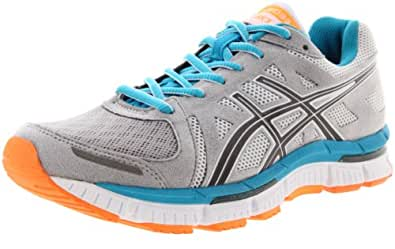 ASICS Women's Gel Neo33 Running Shoe,Platinum/Titanium/Neon Blue,7.5 M US