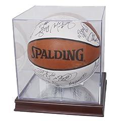 Buy Collectible NBA - NCAA Wood Base with Basketball Holder Display Holder by Comictopia