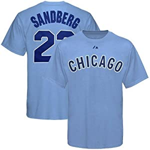 Chicago Cubs Ryne Sandberg Big and Tall Jersey T-Shirt by Majestic