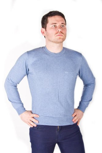 Marlboro Classic 100% Cotton Sky Blue Men's Sweater Jumper Pullover M size