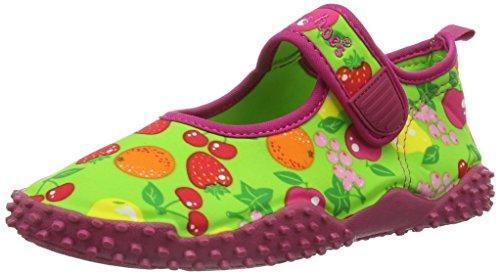 Playshoes Aquaschuhe, Badeschuhe Früchte mit höchstem UV-Schutz nach Standard 801, Ciabatte da spiaggia/piscina bambina, Verde (Grün (original 900)), 32/33