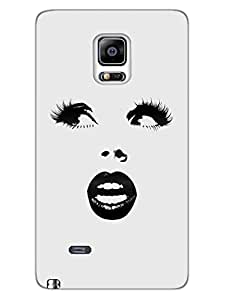 Lady Has Beautiful Eyes - Face Outline - Designer Printed Hard Back Shell Case Cover for Samsung Note 4 Edge Superior Matte Finish Samsung Note 4 Edge Cover Case