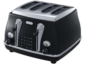 De'Longhi Icona CTO4003.BK 4-Slice Toaster, Black