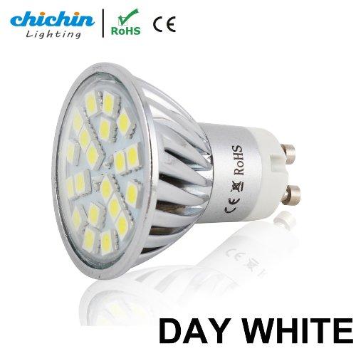 Chichinlighting®1Pc Pure White Led Gu10 Bulb 4 Watts Super Bright Spot Light Wide Angle Gu10 Flood Lamp