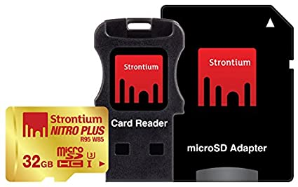Strontium-Nitro-Plus-32GB-UHS-1/U3-(80MB/s)-MicroSDHC-Memory-Card-(With-Card-Reader-&-Adapter)