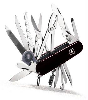 Victorinox Swiss Army Swiss Champ Pocket Knife (Black)