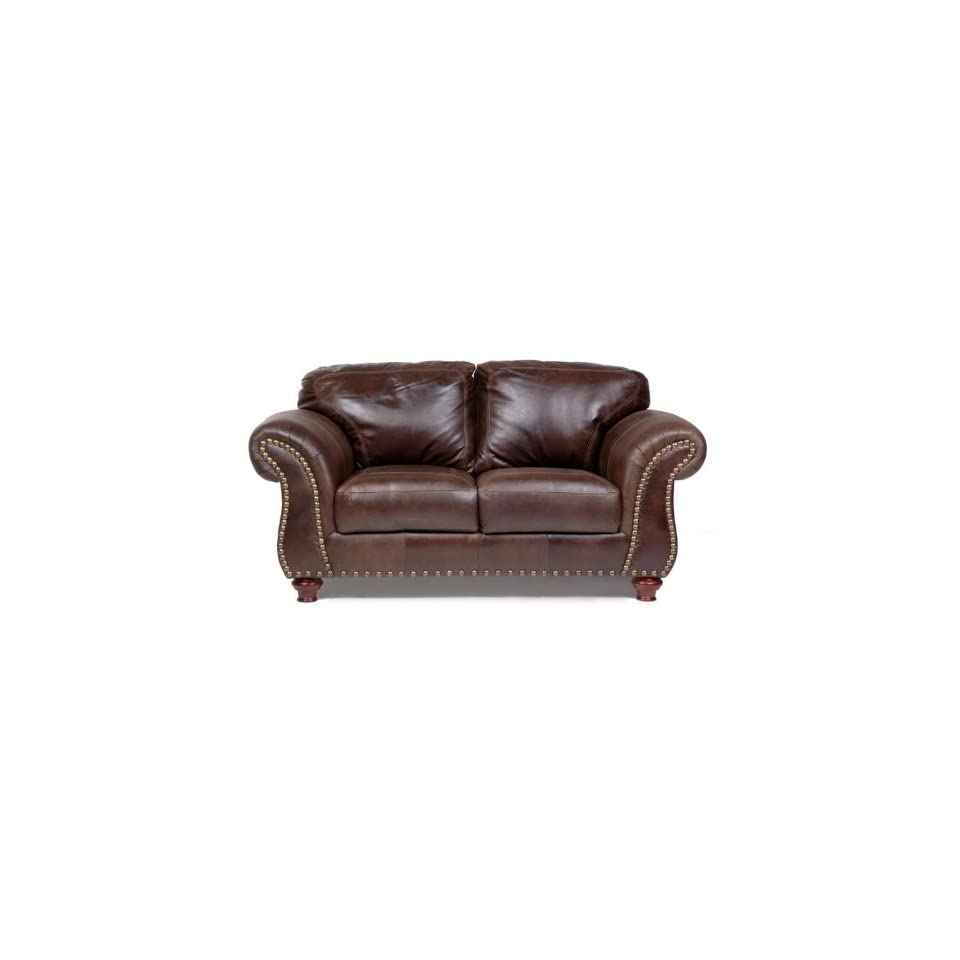 Magnificent Capri 100 Full Aniline Dyed Antique Brown Nail Head Ncnpc Chair Design For Home Ncnpcorg