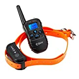 Esky 330 Yards Remote Training E-collar Rechargeable and Waterproof Dog Training Collar with Safe Beep, Vibration and Shock Electronic Electric with Upgraded-Blue Backlight Screen for For 15-120lb Dog