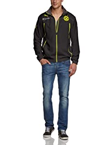 PUMA Herren Jacke BVB Woven Jacket with Sponsor Logo, Black-Dark Gray Heather, XL, 745028 01