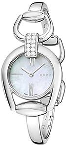 Gucci Women's YA139504 Gucci Horsebit Collection Analog Display Swiss Quartz Silver Watch