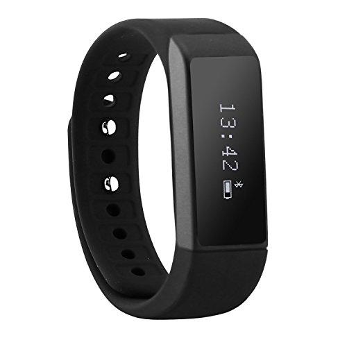007plus T5 Plus Fitness Tracker Health Sleep Monitor Pedometer Activity Tracker Wristband (Black1)