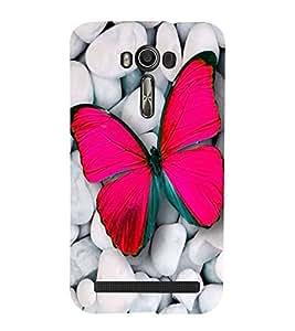 Vizagbeats butterfly on stones Back Case Cover for Asus Zenfone 2 Laser ZE550KL::Asus Zenfone 2 Laser ZE550KL (5.5 Inches)