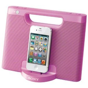 Sony Rdpm7Ip 30-Pin Iphone/Ipod Portable Speaker Dock (Pink) (Discontinued By Manufacturer)