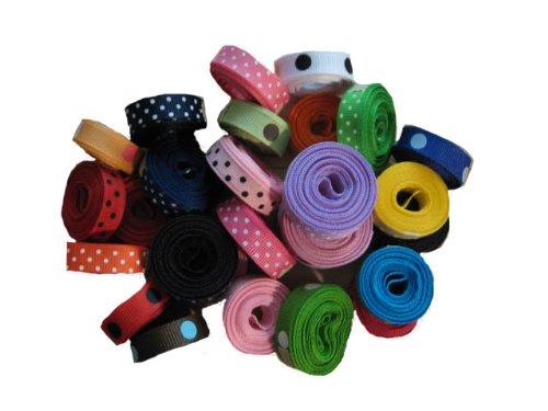 Grosgrain Ribbon Dots Group 27 Rolls 3/8