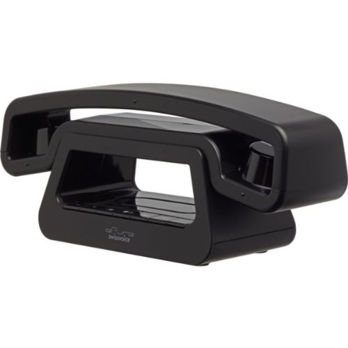 Maxi Swissvoice ePure Designer TAM Cordless Telephone - Black with accompanying HSB Microfibre Cleaning Glove images