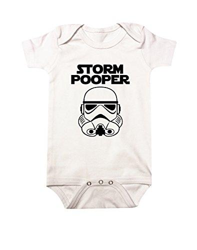 Star Wars Storm Pooper Baby Bodysuit 6M White
