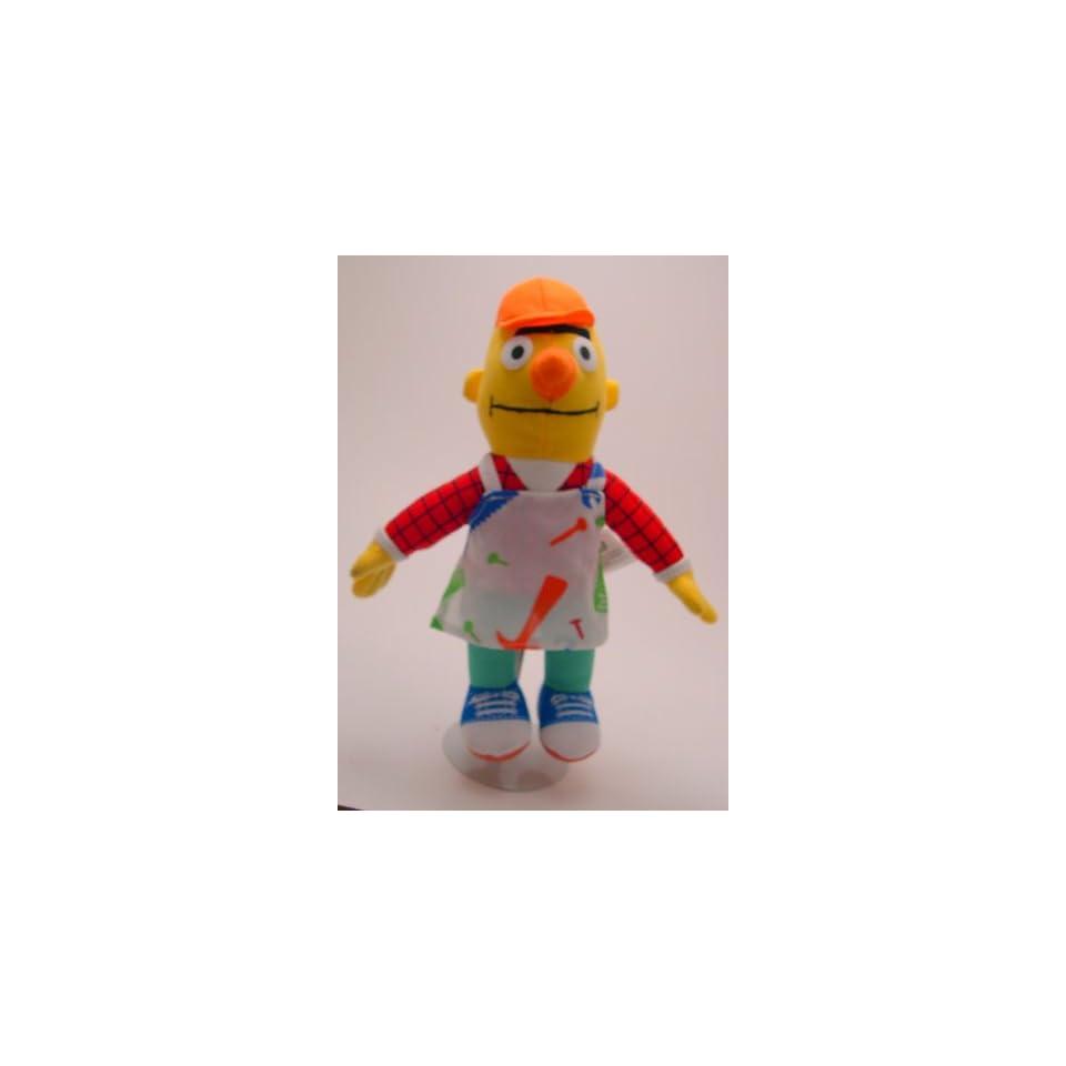"10"" Sesame Street Bert Construction Plush Toys & Games"