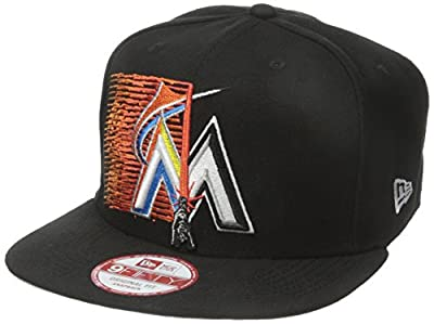 New Era Cap Men's Logo Swipe Miami Marlins Star Wars 9Fifty Snapback Cap