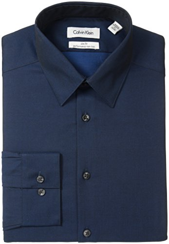 Calvin-Klein-Mens-Slim-Fit-Non-Iron-Herringbone-Solid-Shirt